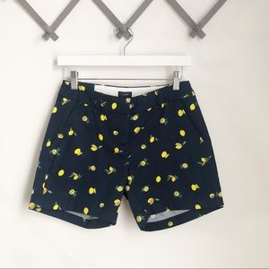 "J Crew Factory 5"" Shorts in Lemon Print"
